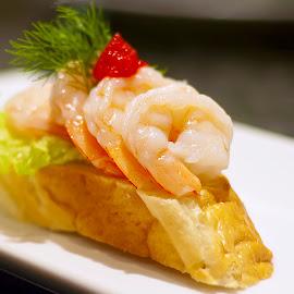 Shrimp Sandwich by Edison Madrideo - Food & Drink Plated Food ( shrimp sandwich tasty yummy )