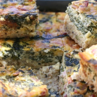 Wholewheat Bacon And Spinach Quiche