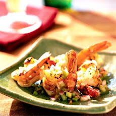 Butterflied Shrimp with Habanero Tomatillo Salsa