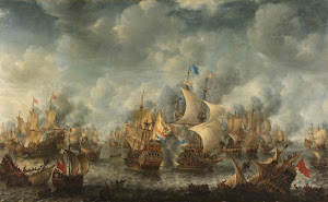 RIJKS: Jan Abrahamsz. Beerstraten: The Battle of Terheide 1666