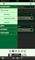Screenshot of Cognitive Diary CBT Self-Help