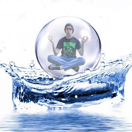 by Jack Scott - Digital Art People ( water, splash, drop, zen, sphere )
