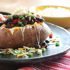 "Loaded Baked Sweet Potato ""Healthified"""