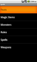 Screenshot of Spells