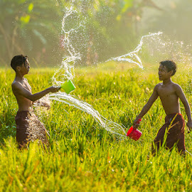 Splash by Agustian Harun - Babies & Children Children Candids ( playing, water, splash, children )
