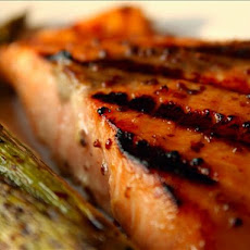 Sweet Mustard-Glazed Salmon for the Grill