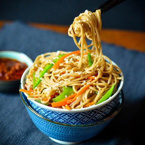 Sesame Noodle Salad with Chili Oil