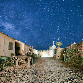 Camp Able by James Chaney - Buildings & Architecture Other Exteriors ( camp, stars, afghanistan, infantry, war )