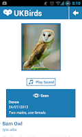 Screenshot of UK Birds - Birdwatching App
