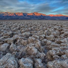 Devil's Golf Course, Death Valley National Park, CA by Martin Belan - Landscapes Deserts ( death valley, mountains, desert, panamint range, devil's golf course, national parks, sunrise, landscape )
