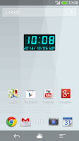 Screenshot of LED clock widget C-Me Clock