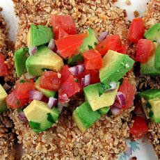 Crunchy Tortilla Chicken with Avocado Salsa