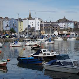 Caernarfon harbour by Diane Dunn - Transportation Boats ( harbour, boats, seascape )