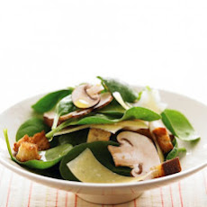 Spinach Salad with Mushrooms and Parmesan