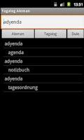 Screenshot of German Tagalog Dictionary