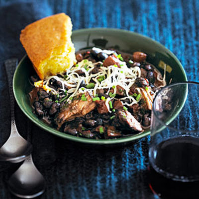 Whiskey and Triple Pork Black Bean Chili