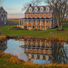 Morning Reflection by Mayola Mann - Buildings & Architecture Homes (  )