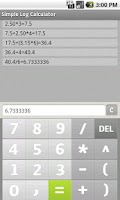 Screenshot of Simple Log Calculator FREE