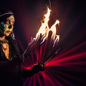Punish Yourself by Stéphane zOz - People Musicians & Entertainers ( music, concert, zoz, lve, punish, rock, punk, portrait, fire, industrial, metal, performer, festival, yourself, electro )