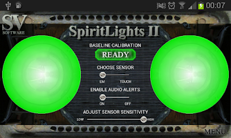 Screenshot of SpiritLights II Paranormal app
