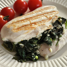Spinach and Scallion Stuffed Chicken Breasts