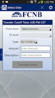Screenshot of FCNB Mobile Banking