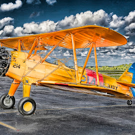 Stearman by Duane Angles - Transportation Airplanes (  )