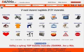 Screenshot of BAZOSs .cz inzerce inzeráty