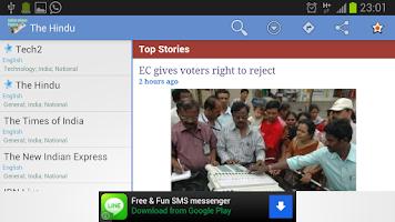 Screenshot of Indian eNews Papers