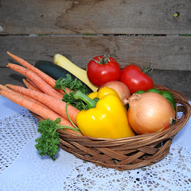Fresh from the garden. by Carolyn Kernan - Food & Drink Fruits & Vegetables (  )
