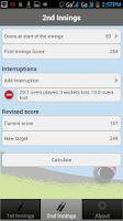 Screenshot of Duckworth-Lewis Calculator
