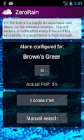 Screenshot of ZeroRain UK (Rain Alarm)