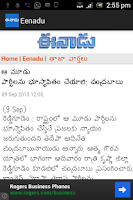 Screenshot of Eenadu