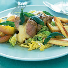 Pork With Apple & Frizzled Sage