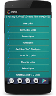 Usher Songs - screenshot