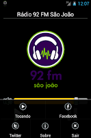Screenshot of Rádio 92 FM São João