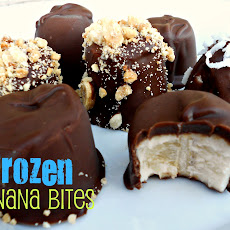 {FROZEN} Chocolate & Peanut Butter Banana Bites