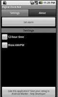 Screenshot of Digital Clock Red