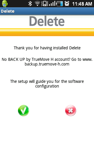 TrueMove H Delete