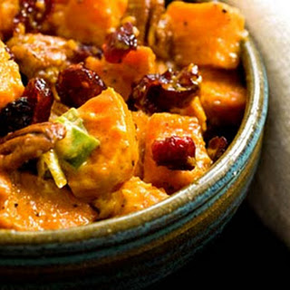 Sweet Potato Salad With Cranberries And Pecans