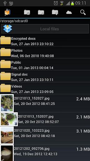 androzip-pro-file-manager for android screenshot