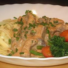 Beef Stroganoff in the Mellinkoff Manner