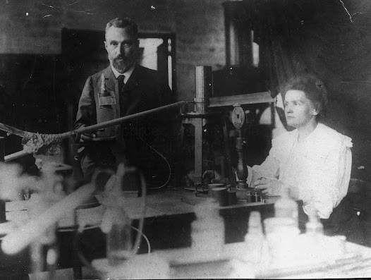 Pierre and Marie Curie in their laboratory, circa 1898