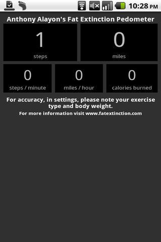 Free Pedometer - Fat Extinct