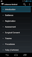 Screenshot of Lebanese Medical Phrases