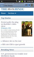 Screenshot of News & Newspapers India