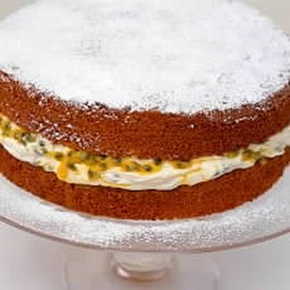A Classic Sponge Cake (with Passion-fruit Filling)