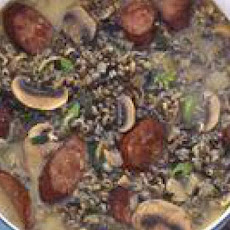 Wild Rice, Mushroom and Sausage Soup