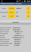 Screenshot of Atmospheric Calculator Free