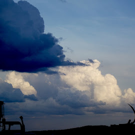 Angry clouds by Vicki Strickland - Novices Only Landscapes ( clouds, black hills sd, sturgis sd, blue, salvage )